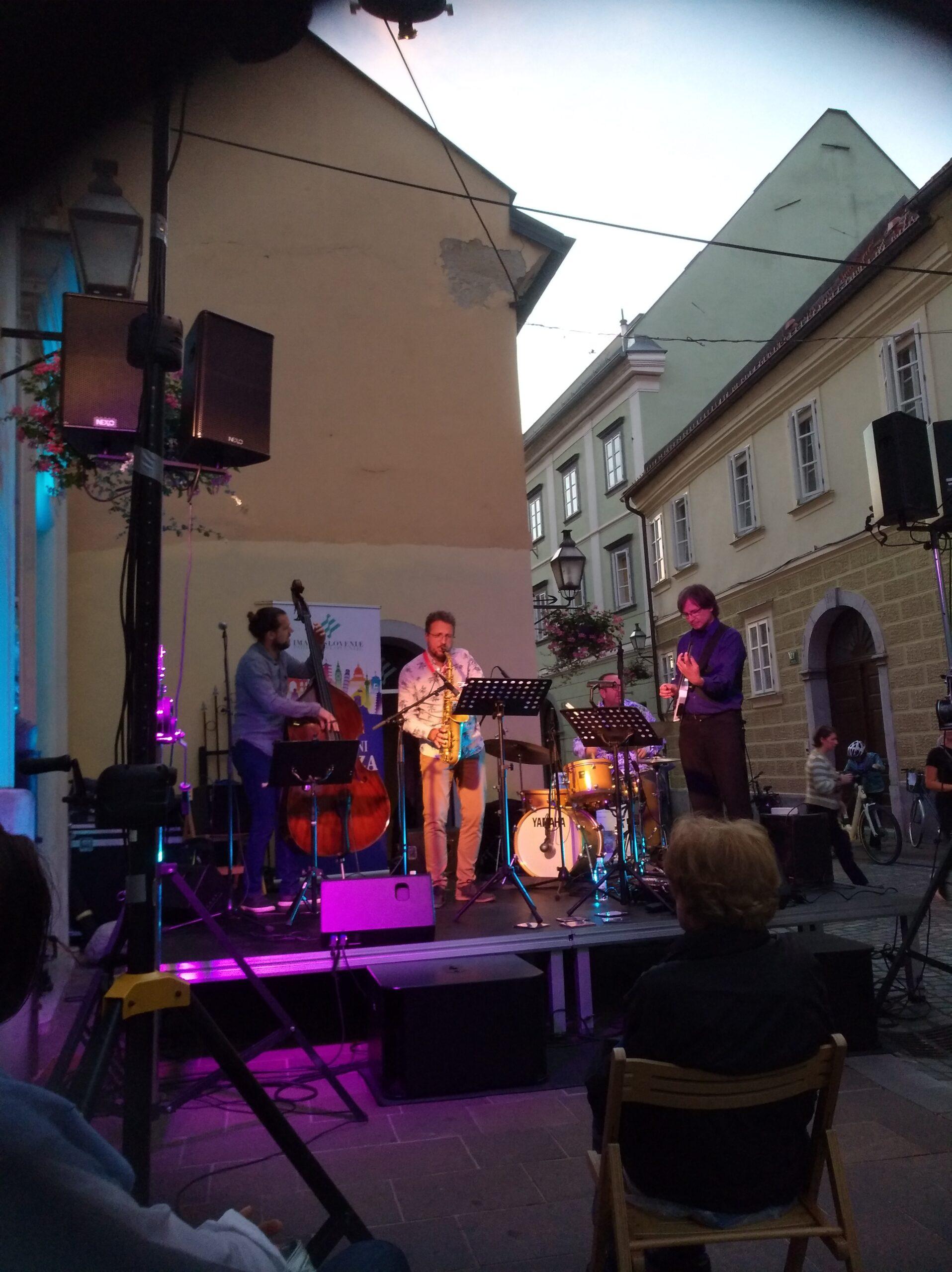serija koncertov: Jazz Unesco oder, Gornji trg,Ljubljana 2020, NEXO PS10R2, LS 600, PS10 monitoring